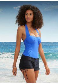 Kostium kąpielowy bonprix niebiesko-czarny. Kolor: niebieski