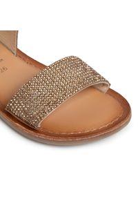 Złote sandały Gioseppo na co dzień, z aplikacjami
