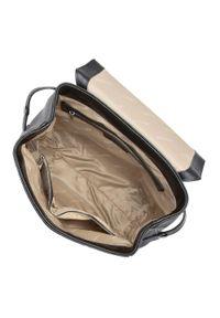 Czarny plecak Wittchen z haftami, elegancki