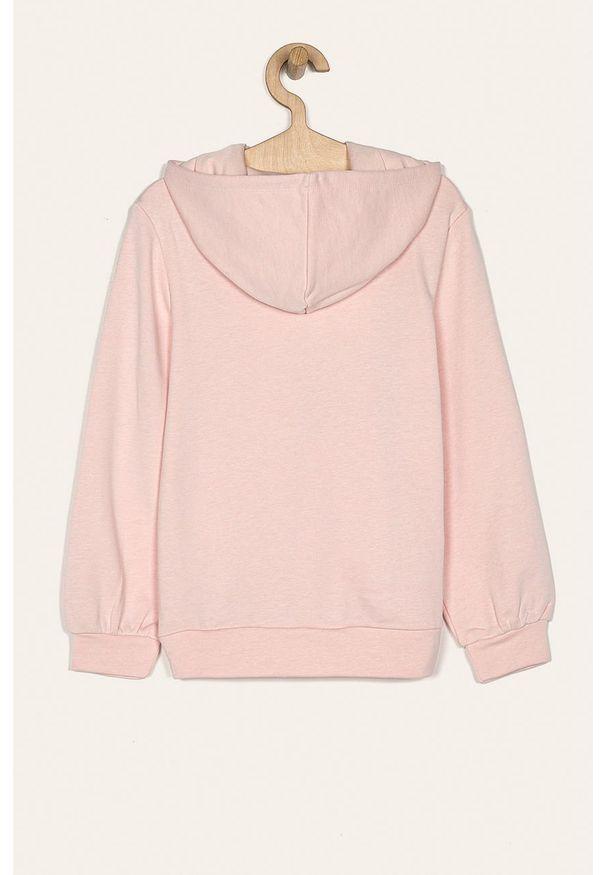 Różowa bluza Kids Only z kapturem, z nadrukiem