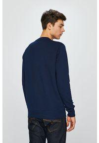 Niebieska bluza nierozpinana Reebok Classic na co dzień, casualowa, bez kaptura, z nadrukiem