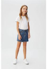 Niebieska spódniczka Mango Kids casualowa, na co dzień