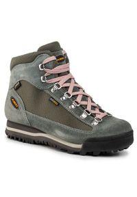 Zielone buty trekkingowe Aku z cholewką, trekkingowe