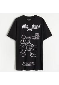 Reserved - Koszula nocna Myszka Miki - Czarny. Kolor: czarny