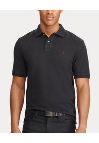 Ralph Lauren - RALPH LAUREN - Czarny t-shirt polo Classic Fit. Typ kołnierza: polo. Kolor: czarny. Materiał: bawełna. Wzór: haft. Styl: klasyczny