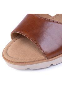 Brązowe sandały Gabor na co dzień, casualowe