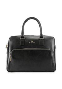 Czarna torba na laptopa Wittchen