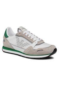 Emporio Armani - Sneakersy EMPORIO ARMANI - X4X537 XM678 N494 Plas/Slv/O.Wht/Ac.Gr. Kolor: szary, biały, wielokolorowy. Materiał: skóra ekologiczna, materiał, zamsz. Szerokość cholewki: normalna. Styl: klasyczny