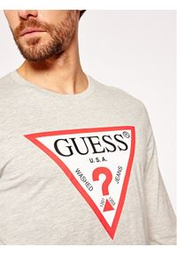 Szara koszulka z długim rękawem Guess