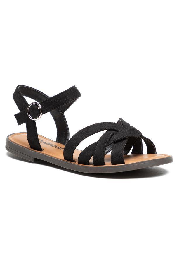 Refresh - Sandały REFRESH - 72750 Black. Kolor: czarny. Materiał: materiał