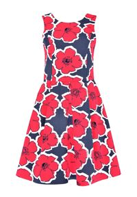 Czerwona sukienka TOP SECRET z dekoltem na plecach, na ślub cywilny