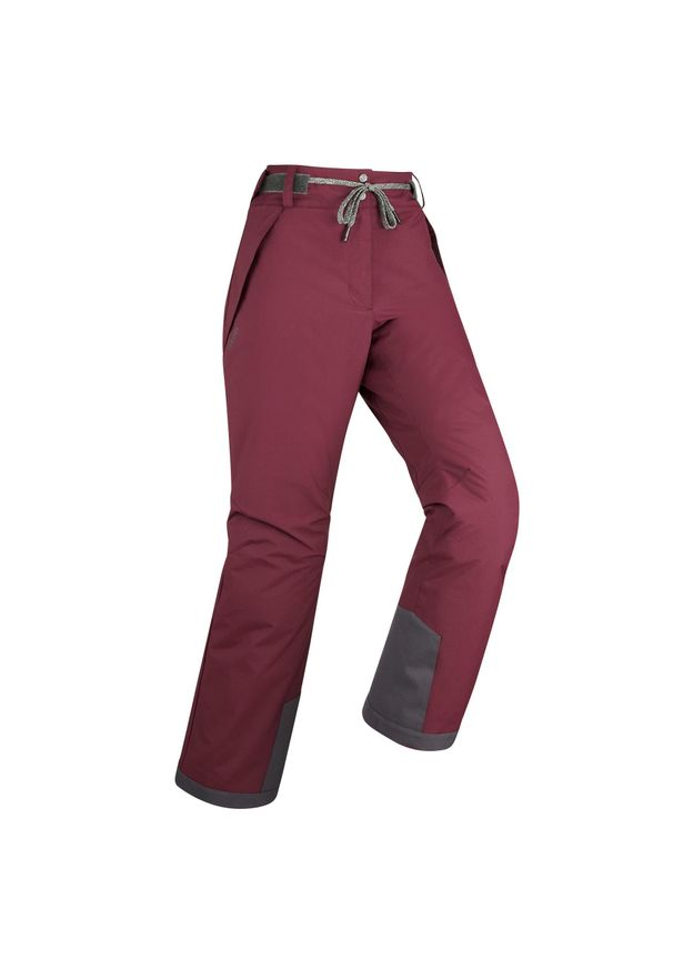 DREAMSCAPE - Spodnie narciarskie / snowboardowe damskie Dreamscape 100. Kolor: czerwony. Materiał: materiał. Sezon: zima. Sport: narciarstwo, snowboard