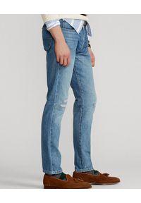 Ralph Lauren - RALPH LAUREN - Niebieskie jeansy Sullivan Slim. Kolor: niebieski. Wzór: aplikacja. Styl: klasyczny