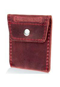 Czerwony portfel BRODRENE w kolorowe wzory