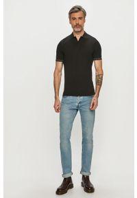 Czarna koszulka polo Calvin Klein Jeans krótka, polo