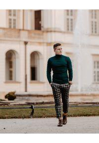 Zielony sweter Brave Soul elegancki, na zimę, z golfem