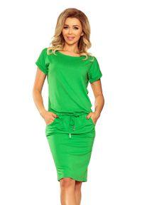 Zielona sukienka Numoco casualowa, prosta