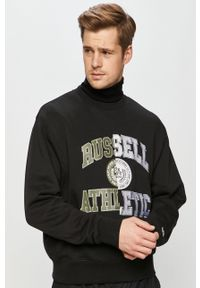 Czarna bluza nierozpinana Russell Athletic bez kaptura, casualowa