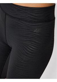 4f - 4F Szorty sportowe H4L21-LEG015 Czarny Slim Fit. Kolor: czarny