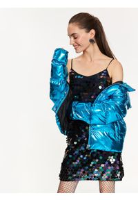 Turkusowa sukienka TOP SECRET na imprezę, elegancka