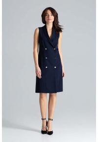 Niebieska sukienka Katrus szmizjerki #1