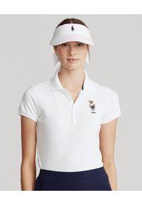 Ralph Lauren - RALPH LAUREN - Koszulka polo Tailored Fit. Typ kołnierza: polo. Kolor: biały. Materiał: prążkowany, dresówka, bawełna, jeans. Wzór: haft, aplikacja. Sezon: wiosna. Styl: klasyczny