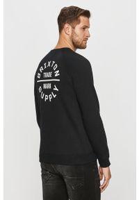 Czarna bluza nierozpinana Brixton na co dzień, z nadrukiem, bez kaptura