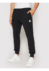 Starter Spodnie dresowe SMG-007-BD Czarny Regular Fit. Kolor: czarny. Materiał: dresówka