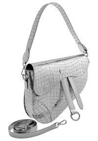Srebrna torebka Badura z tłoczeniem, klasyczna