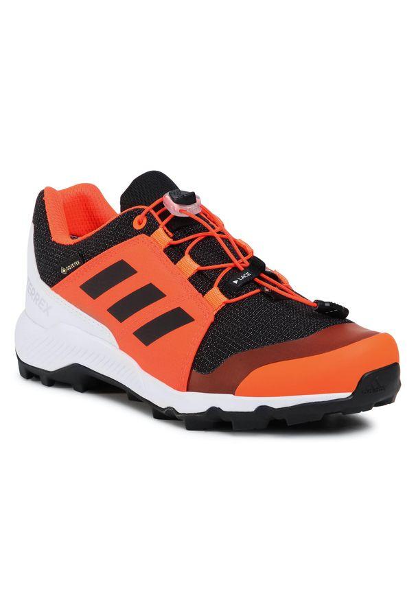 Pomarańczowe półbuty Adidas casualowe, na co dzień, z cholewką
