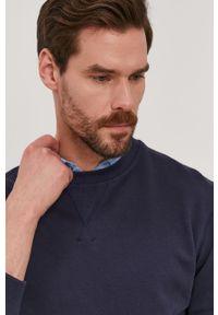 Niebieska bluza nierozpinana Selected gładkie, na co dzień