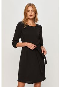 Czarna sukienka Vila casualowa, na spotkanie biznesowe