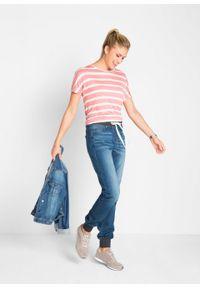 Dżinsy BOYFRIEND ze stretchem i wygodnym paskiem bonprix niebieski denim. Kolor: niebieski #5
