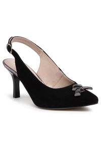 Czarne sandały Karino z aplikacjami, klasyczne