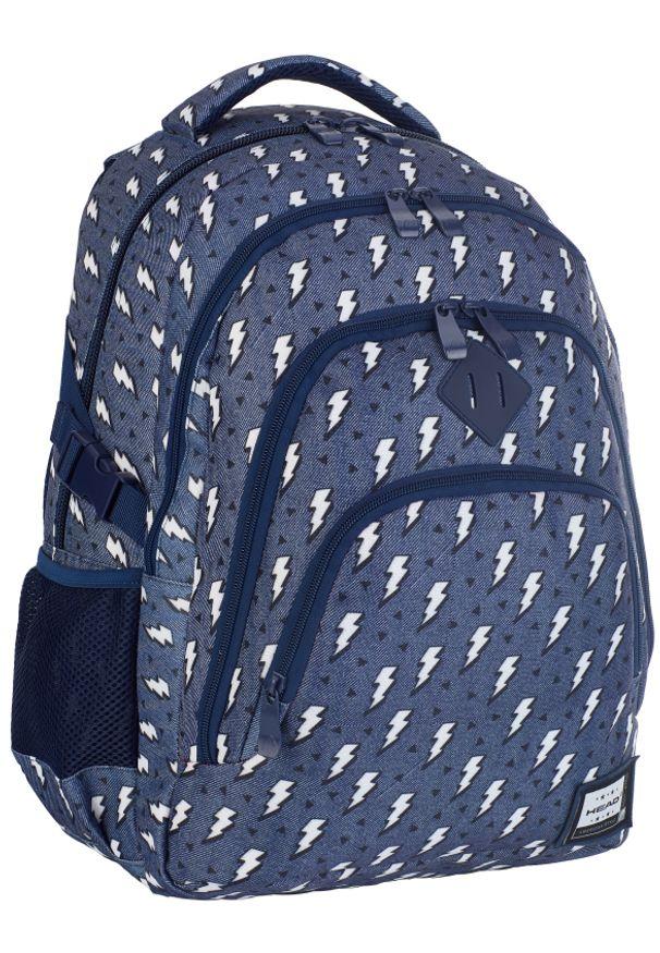 ALWAYS WILD - Plecak szkolny granatowy Always Wild HD-335 HEAD 3. Kolor: niebieski. Materiał: materiał. Wzór: nadruk, aplikacja. Styl: sportowy