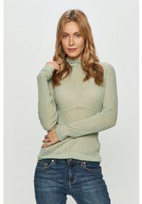 Miss Sixty - Sweter. Typ kołnierza: golf. Kolor: zielony. Materiał: dzianina. Długość rękawa: długi rękaw. Długość: długie