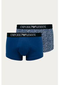 Niebieskie majtki Emporio Armani z nadrukiem