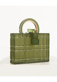 CULT GAIA - Zielona torebka Fai. Kolor: zielony. Styl: elegancki. Rodzaj torebki: na ramię