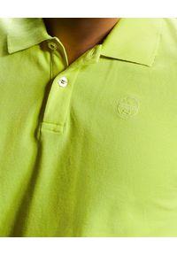 North Sails - NORTH SAILS - Żółta koszulka polo z haftowanym logo. Typ kołnierza: polo. Kolor: żółty. Materiał: bawełna. Wzór: haft