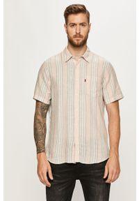 Różowa koszula Levi's® krótka, klasyczna, na spotkanie biznesowe