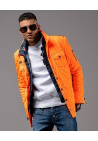 GUNS & TUXEDOS - Pomarańczowa kurtka pikowana Hunter 1. Kolor: pomarańczowy. Materiał: puch, materiał