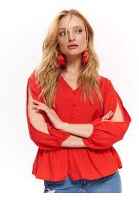 Czerwona koszula TOP SECRET na co dzień, casualowa