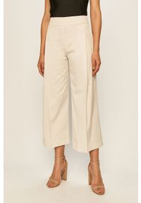 Beżowe spodnie materiałowe Stefanel