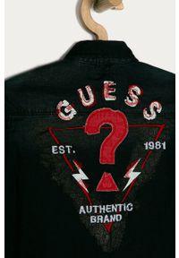Czarna koszula Guess długa, casualowa, z długim rękawem