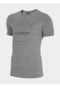 outhorn - T-shirt męski. Materiał: bawełna, dzianina, poliester