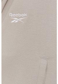 Reebok Classic - Bluza bawełniana. Kolor: szary. Materiał: bawełna. Wzór: aplikacja