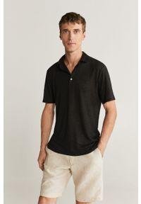 Czarna koszulka polo Mango Man krótka, polo, casualowa