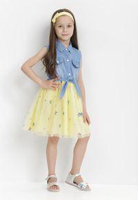 Born2be - Żółta Sukienka Olithenis. Kolor: żółty