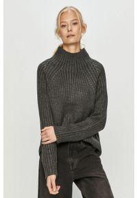 Szary sweter Brave Soul na co dzień, casualowy, z długim rękawem