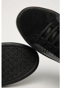 Czarne sneakersy Guess Jeans z cholewką, na sznurówki